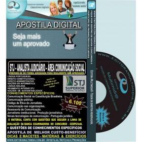 Apostila STJ - ANALISTA JUDICIÁRIO - Cargo 6 - Área COMUNICAÇÃO SOCIAL - Teoria + 6.100 Exercícios - Concurso 2015