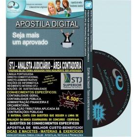 Apostila STJ - ANALISTA JUDICIÁRIO - Cargo 7 - Área CONTADORIA - Teoria + 6.500 Exercícios - Concurso 2015