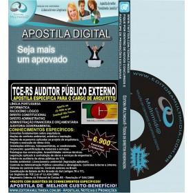 Apostila TCE RS - Auditor Público Externo - ARQUITETO - Teoria + 6.900 Exercícios - Concurso 2014