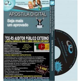 Apostila TCE RS - Auditor Público Externo - CIÊNCIAS CONTÁBEIS - Teoria + 5.600 Exercícios - Concurso 2014