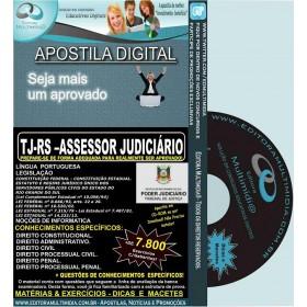 Apostila TJ RS - ASSESSOR JUDICIÁRIO - Teoria + 7.800 Exercícios - Concurso 2016