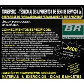 Apostila TRANSPETRO - TÉCNICO(A) de SUPRIMENTOS de BENS e SERVIÇOS Jr. - Teoria + 4.800 Exercícios - Concurso 2018