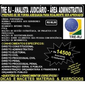 Apostila TRE RJ - Analista Judiciário - ÁREA ADMINISTRATIVA - Teoria + 14.500 Exercícios - Concurso 2017
