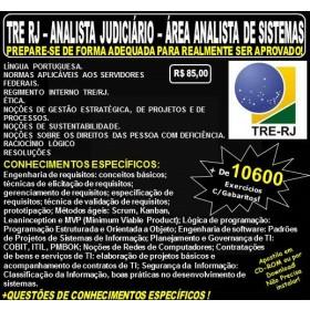Apostila TRE RJ - Analista Judiciário - Apoio Especializado - ANALISTA de SISTEMAS - Teoria + 10.600 Exercícios - Concurso 2017
