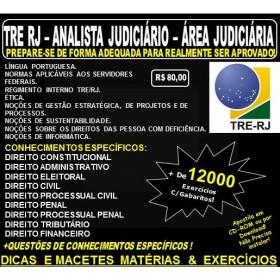 Apostila TRE RJ - Analista Judiciário - ÁREA JUDICIÁRIA - Teoria + 12.000 Exercícios - Concurso 2017