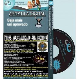 Apostila TRE RS - Analista Judiciária - Área PSICOLOGIA - Teoria + 6.500 Exercícios - Concurso 2015