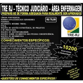 Apostila TRE RJ - Técnico Judiciário - ÁREA ENFERMAGEM - Teoria + 10.200 Exercícios - Concurso 2017