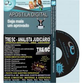 Apostila TRE SC - ANALISTA JUDICIÁRIO - Área JUDICIÁRIA - Teoria + 6.100 Exercícios - Concurso 2013