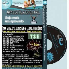 Apostila TSE - Analista Judiciário - Área Judiciária - Teoria + 5.900 Exercícios - Concurso 2011-12