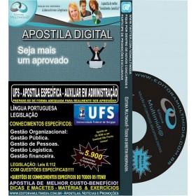 Apostila UFS - AUXILIAR EM ADMINISTRAÇÃO - Teoria + 5.900 Exercícios - Concurso 2014