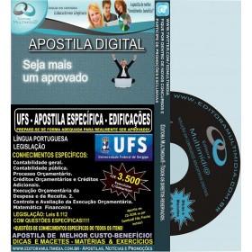 Apostila UFS - TÉCNCO em EDIFICAÇÕES - Teoria + 3.500 Exercícios - Concurso 2014