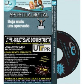 Apostila UTFPR - BIBLIOTECÁRIO DOCUMENTALISTA - Teoria + 5.000 Exercícios - Concurso 2016