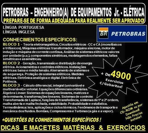 Apostila PETROBRAS ENGENHEIRO(A) de EQUIPAMENTOS Júnior - ELÉTRICA - Teoria + 4.900 Exercícios - Concurso 2018