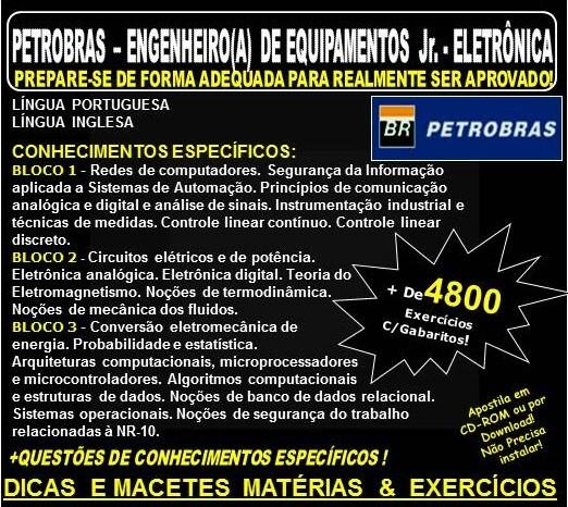 Apostila PETROBRAS - ENGENHEIRO(A) de EQUIPAMENTOS Jr. - ELETRÔNICA. - Teoria + 4.800 Exercícios - Concurso 2018