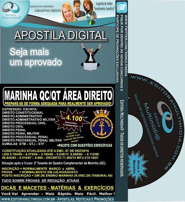 Apostila Marinha QC / QT - DIREITO -Teoria + 4.100 Exercícios - Concurso 2012