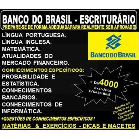 Apostila BANCO do BRASIL - ESCRITURÁRIO - Teoria + 4.000 Exercícios - Concurso 2018