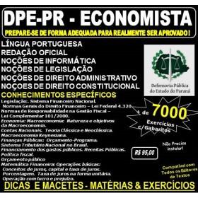 Apostila DPE PR - ECONOMISTA - Teoria + 7.000 Exercícios - Concurso 2017