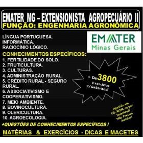 Apostila EMATER MG - EXTENSIONISTA AGROPECUÁRIO II - Função: ENGENHARIA AGRONÔMICA - Teoria + 3.800 Exercícios - Concurso 2018