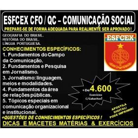 Apostila ESFCEX CFO / QC - COMUNICAÇÃO SOCIAL - EXÉRCITO - Teoria + 4.600 Exercícios - Concurso - 2019-20