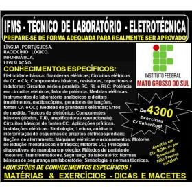 Apostila IFMS - TÉCNICO de LABORATÓRIO - ELETROTÉCNICA - Teoria + 4.300 Exercícios - Concurso 2018