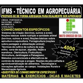 Apostila IFMS - TÉCNICO em AGROPECUÁRIA - Teoria + 4.000 Exercícios - Concurso 2018