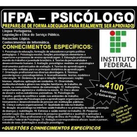 Apostila IFPA - PSICÓLOGO - Teoria + 4.100 Exercícios - Concurso 2019