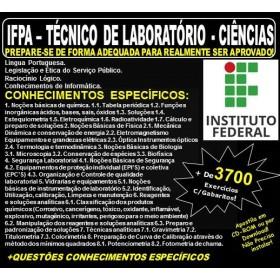 Apostila IFPA - TÉCNICO de LABORATÓRIO - CIÊNCIAS - Teoria + 3.700 Exercícios - Concurso 2019