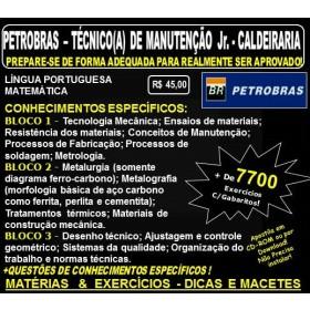 Apostila PETROBRAS - Técnico de Manutenção Jr. - CALDEIRARIA - Teoria + 7.700 Exercícios - Concurso 2017