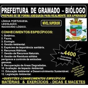Apostila PREFEITURA DE GRAMADO - BIÓLOGO - Teoria + 4.400 Exercícios - Concurso 2018