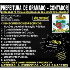 Apostila PREFEITURA de GRAMADO - CONTADOR - Teoria + 4.800 Exercícios - Concurso 2018