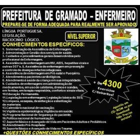 Apostila PREFEITURA DE GRAMADO - ENFERMEIRO - Teoria + 4.300 Exercícios - Concurso 2018