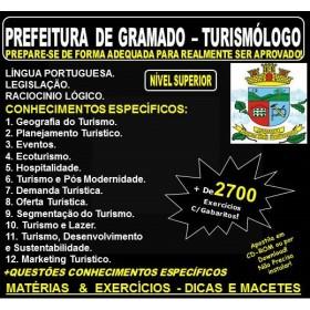 Apostila PREFEITURA de GRAMADO - TURISMÓLOGO - Teoria + 2.700 Exercícios - Concurso 2018