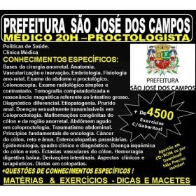 Apostila Prefeitura de São José dos Campos - Médico - PROCTOLOGISTA - Teoria + 4.500 Exercícios - Concurso 2018