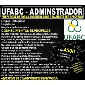 Apostila UFABC - ADMINSTRADOR - Teoria + 4.500 Exercícios - Concurso 2018