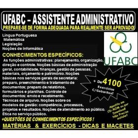 Apostila UFABC - ASSISTENTE ADMINISTRATIVO - Teoria + 4.100 Exercícios - Concurso 2018