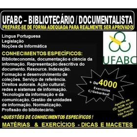 Apostila UFABC - BIBLIOTECÁRIO / DOCUMENTALISTA - Teoria + 4.000 Exercícios - Concurso 2018