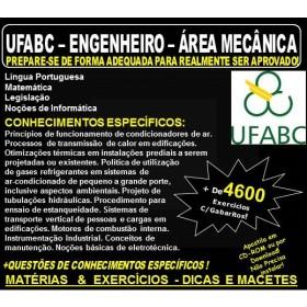Apostila UFABC - ENGENHEIRO - Área MECÂNICA - Teoria + 4.600 Exercícios - Concurso 2018