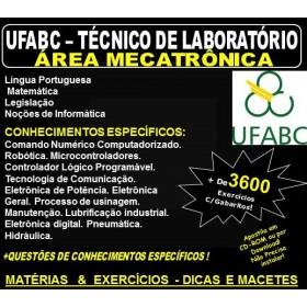 Apostila UFABC - TÉCNICO de LABORATÓRIO - Área MECATRÔNICA - Teoria + 3.600 Exercícios - Concurso 2018