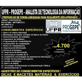 Apostila UFPR - PROGEPE - ANALISTA de TECNOLOGIA da INFORMAÇÃO - Teoria + 4.700 Exercícios - Concurso 2019