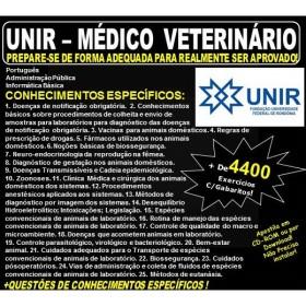 Apostila UNIR - MÉDICO VETERINÁRIO - Teoria + 4.400 Exercícios - Concurso 2018