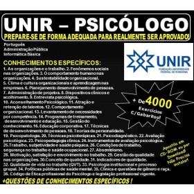 Apostila UNIR - PSICÓLOGO - Teoria + 4.000 Exercícios - Concurso 2018